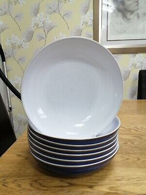 7 X Denby IMPERIAL BUE Large Pasta Bowls • 49£