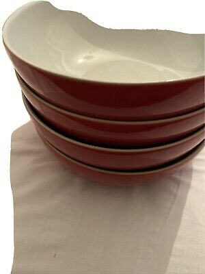 Denby - Everyday - Red Salsa - Cereal Bowls X3 Opened Never Used • 10£