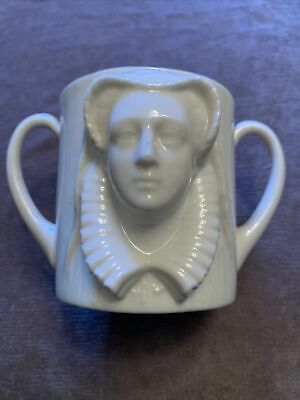 W H Goss Mary Queen Of Scots Double Handled Cup Eccleshall • 31£