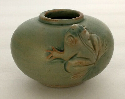 Vintage Frog Pottery Bowl Frogs Green  • 23.77£