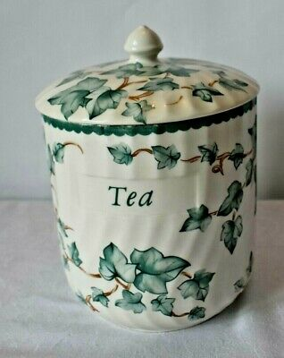 Genuine Vintage BHS Country Vine Tea Caddy Canister British Home Stores Storage • 9.99£