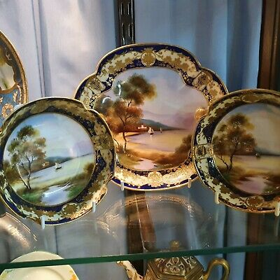 Three Stunning Hand Painted And Gilded Noritake Bowls • 85£