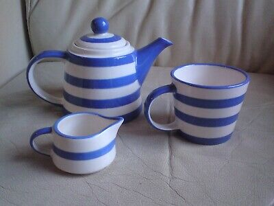 Ringtons Blue And White Striped Tea For One Set,vgc. • 19.99£