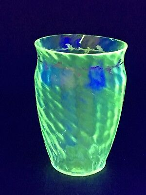 Very Rare Emile Galle C.1885 Crystal Crystellerie Uranium Green Glass Posy Vase • 359.96£