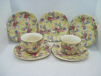 Royal Winton Grimwades Welbeck Chintz 2 Cups And Saucers Plus 3 Saucers • 19.99£