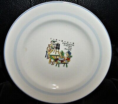 SWINNERTONS Nursery Rhyme  Catching Fishes All Alive  7 Childs Plate • 11.04£
