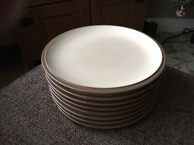 8 X Denby Everyday Cappuccino Salad Plates 9  Dia  • 29.99£