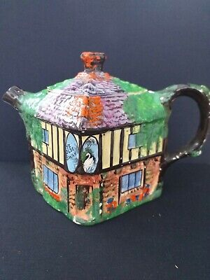 Grimwades Hand Painted Teapot 'Ye Olde Inne' 1930s  Collectable • 2£