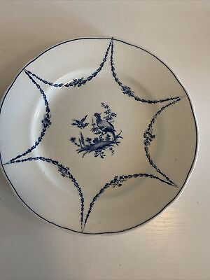 """Pretty Booths 9"""" Blue And White Plate • 1.30£"""