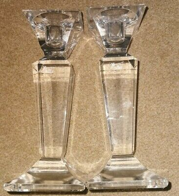 Xavier  Crystal Pair Glass 1896 Century Of Masterpieces Candle Holders • 9.99£