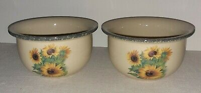 Home + Garden Party Lot Of 2 Soup/Cereal Bowls Sunflower Design 6  2005 • 11.01£