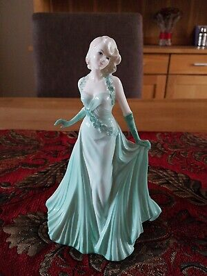 Coalport China Lady Doll Claire The Collingwood Collection Green Dress Perfect  • 8.62£