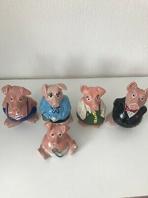 Nat West Pigs - Complete Set With Stoppers    COLLECTION ONLY  • 70£