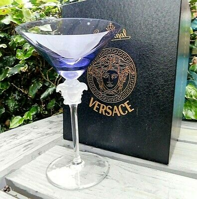 Boxed ROSENTHAL For VERSACE MEDUSA Purple Amythyst Cocktail Glass Rrp £200.00 • 69.95£