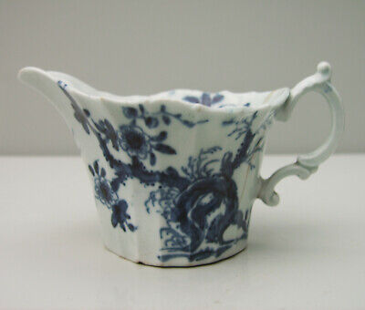 Dr Wall Period Worcester Blue And White Prunus Root Pattern Cream Boat AF • 175£