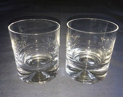 2 X Dartington Dimple Crystal Old Fashioned Glasses. Excellent Condition • 29.99£