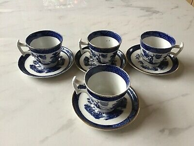 Booths - Real Old Willow Pattern - Eight Piece Coffee Cups And Saucers  • 8£