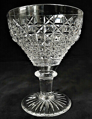 Large John Walsh Antique Crystal Cut Pantop Rummer Style Beer/Wine Glass. C1930 • 18£