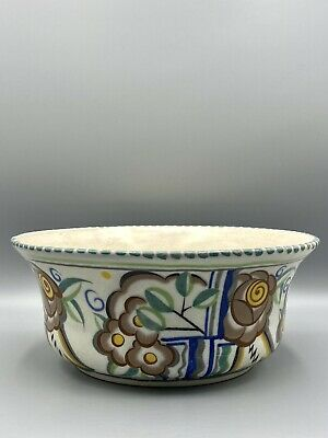Poole Pottery Carter Stabler Adams Traditional Pi Pattern Bowl • 115£