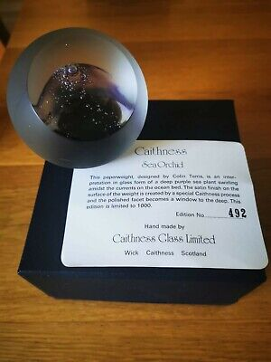 Caithness Limited Edition Paperweight - Sea Orchid • 12.50£