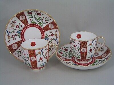 SET OF 10 EARLY ANTIQUE DERBY IMARI COFFEE CUPS AND SAUCERS, Circa1890. • 275£
