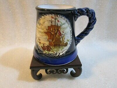 Vintage Great Yarmouth Potteries The Sailers Year Tankard Stein Mug  • 8.97£