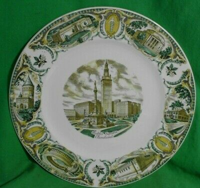 Antique Vtg. Imperial By Salem China Co. Commemorative 11  Plate Cleveland, Ohio • 9.56£