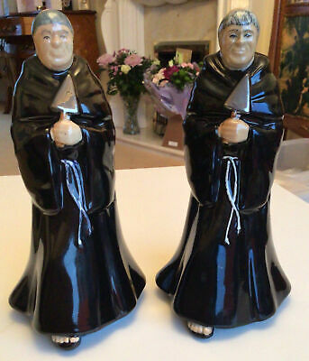 Bretby Art Pottery.Two Monks With Trowels Made For A.Monk+Company • 20£