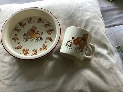 Masons Pottery Child's Bowl And Mug • 1.99£