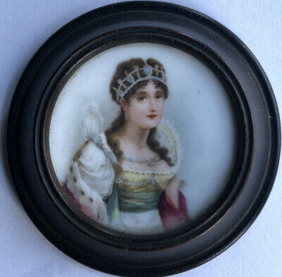 Lovely Sevres Miniature Portrait Of Empress Josephine • 250£
