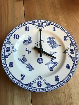 Spode Blue & White Wall Clock • 6£