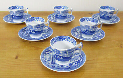Copeland Spode's Italian Demitasse Coffee Cups And Saucers X6 • 30£