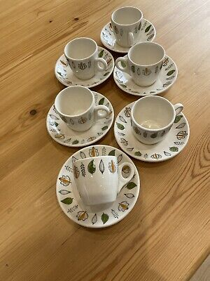 Vintage Britamic Hotelware Coffee Cups And Saucers 1960s • 20£