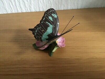Preowned 1985 FRANKLIN MINT PORCELAIN BUTTERFLY OF THE WORLD - MALACHITE.  VGC  • 6.95£