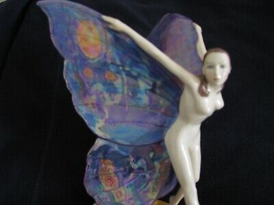 Carlton Ware Butterfly Girl Figurine Porcelain China Limited Edition • 80£