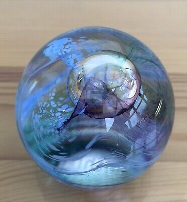 Vintage Caithness Of Scotland Art Glass Paperweight - Mooncrystal • 15.24£