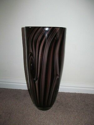 Large Studio Glass Vase In Shades Of Brown • 12.95£