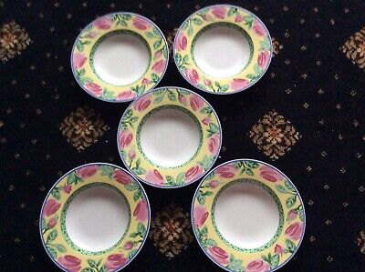 Villeroy & Boch Switch Summerhouse 5 Rimmed Bowls.great Condition. • 6.90£