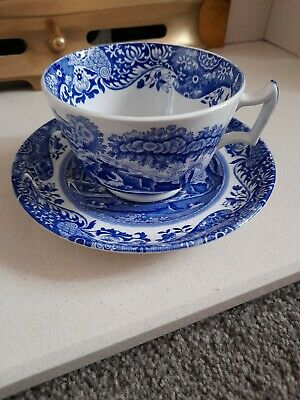 Spode Blue And White Cup And Saucer • 3.80£