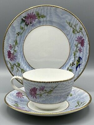 Shelley Late Foley Gainsborough Blue Bird Trio - Cup Saucer And Side-plate 10672 • 14.95£