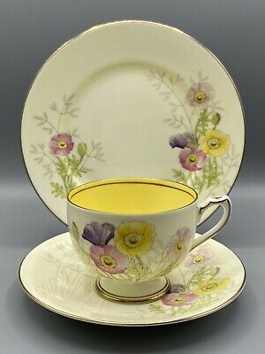 Shelley Porcelain Trio - Cup, Saucer And Side-plate - 13037 - Unusual Pattern! • 14.95£