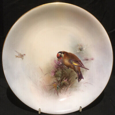 Royal Worcester James Stinton Goldfinch Plate • 17.70£