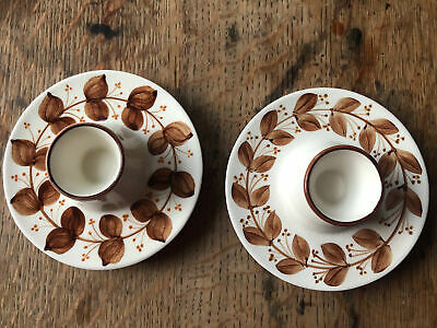 JERSEY POTTERY VINTAGE ORIGINAL EGG CUPS X 2  - One With Tiny Chip • 5.30£
