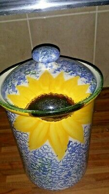 Poole Pottery Vincent Sunflower  Bred Bin  1990's Kitchenalia  • 15.99£