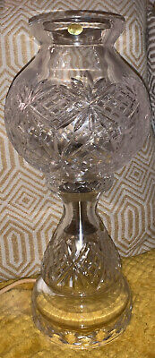 A  STUNNING IRISH TYRONE CRYSTAL 1st QUALITY ELECTRIC TABLE LAMP 14INCHES (1) • 94.99£