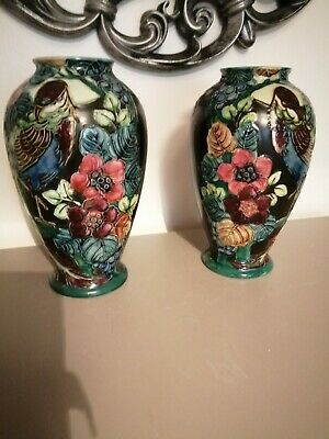 Large Collectable Pair Of  AntiqueTrojan Ware Floral Vases.Date Early 1900.'s • 39.99£