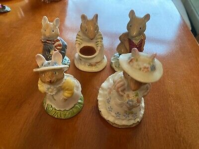 Royal Doulton Brambly Hedge Lord Woodmouse /primrose/poppy/wilfred &mrs Toadflax • 10.50£
