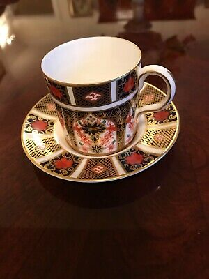 Royal Crown Derby Old Imari 1128 Coffee Can & Saucer 1st • 39.99£