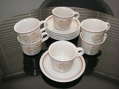 6 X Marks And Spencer's - 'Field Flowers'  Cups & Saucers  • 15£