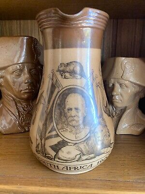 A Stunning Doulton Lambeth South Africa 1900 Boer War Jug. Perfect Condition ! • 249£